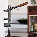 BOJ Wall Mounted Corkscrew Black Nickel #7653