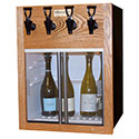 WineKeeper Napa 4-Bottle White (Oak) #7993