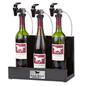 WineKeeper Showcase 3 Bottle (Black) Nitrogen #8013