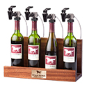 WineKeeper Showcase 4 Bottle (Mahogany) Nitrogen #8018